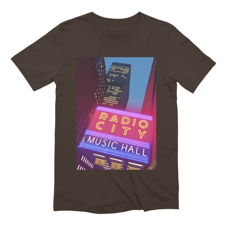 Radio City Music Hall Men's Extra Soft T-Shirt by Pig's Ear Gear on Threadless
