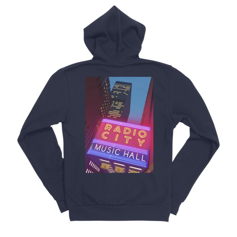Radio City Music Hall Women's Sponge Fleece Zip-Up Hoody by Pig's Ear Gear on Threadless