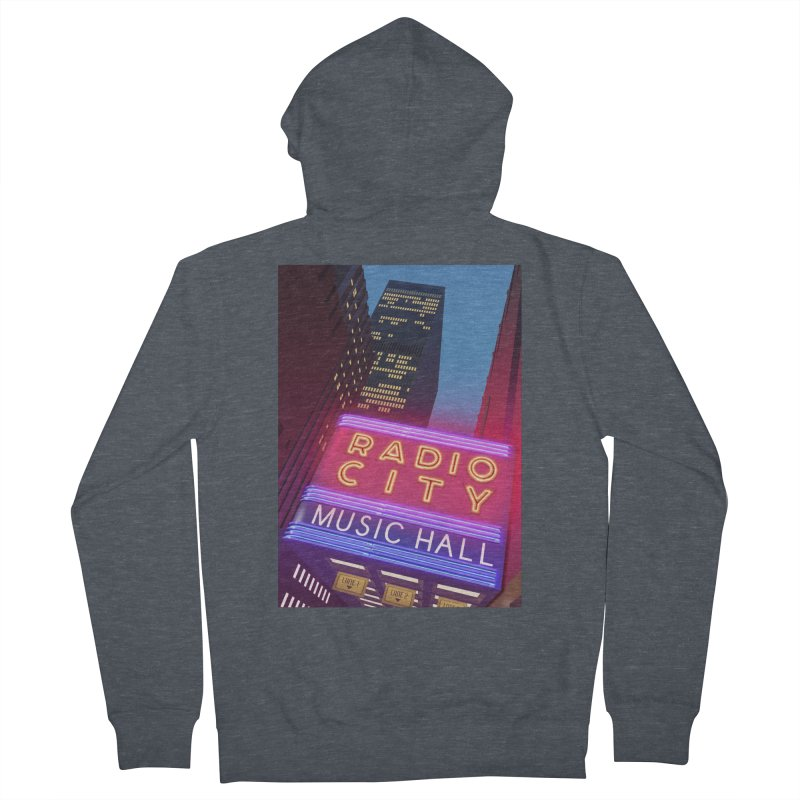 Radio City Music Hall Women's French Terry Zip-Up Hoody by Pig's Ear Gear on Threadless