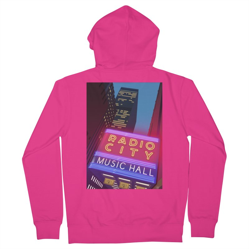 Radio City Music Hall Men's French Terry Zip-Up Hoody by Pig's Ear Gear on Threadless