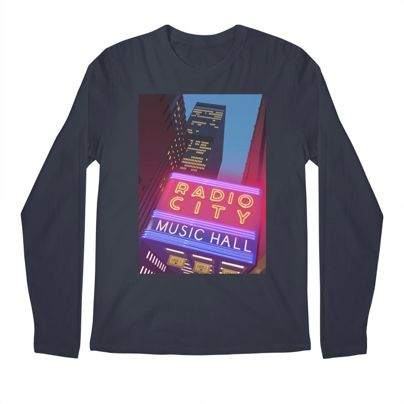 Radio City Music Hall Men's Regular Longsleeve T-Shirt by Pig's Ear Gear on Threadless