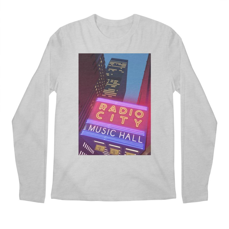Radio City Music Hall Men's Regular Longsleeve T-Shirt by Pig's Ear Gear on Threadless