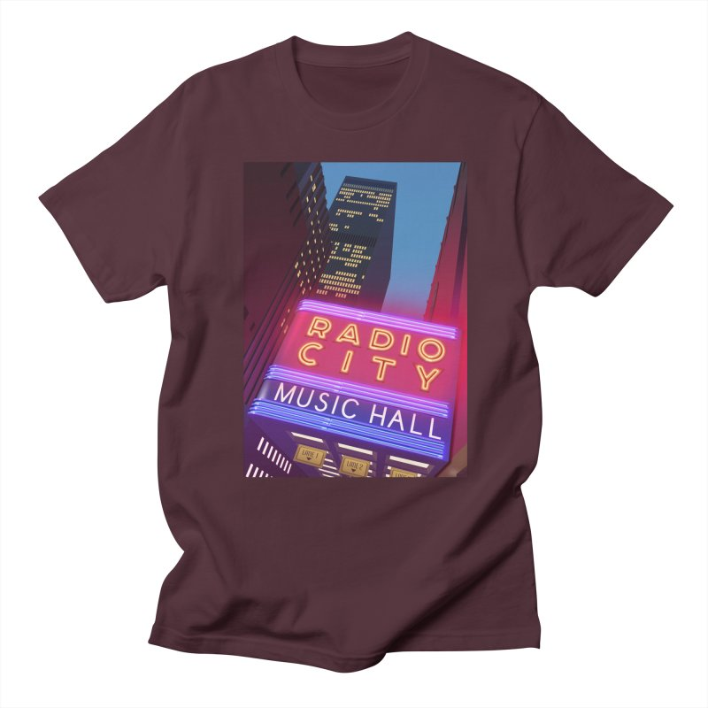 Radio City Music Hall Women's Regular Unisex T-Shirt by Pig's Ear Gear on Threadless