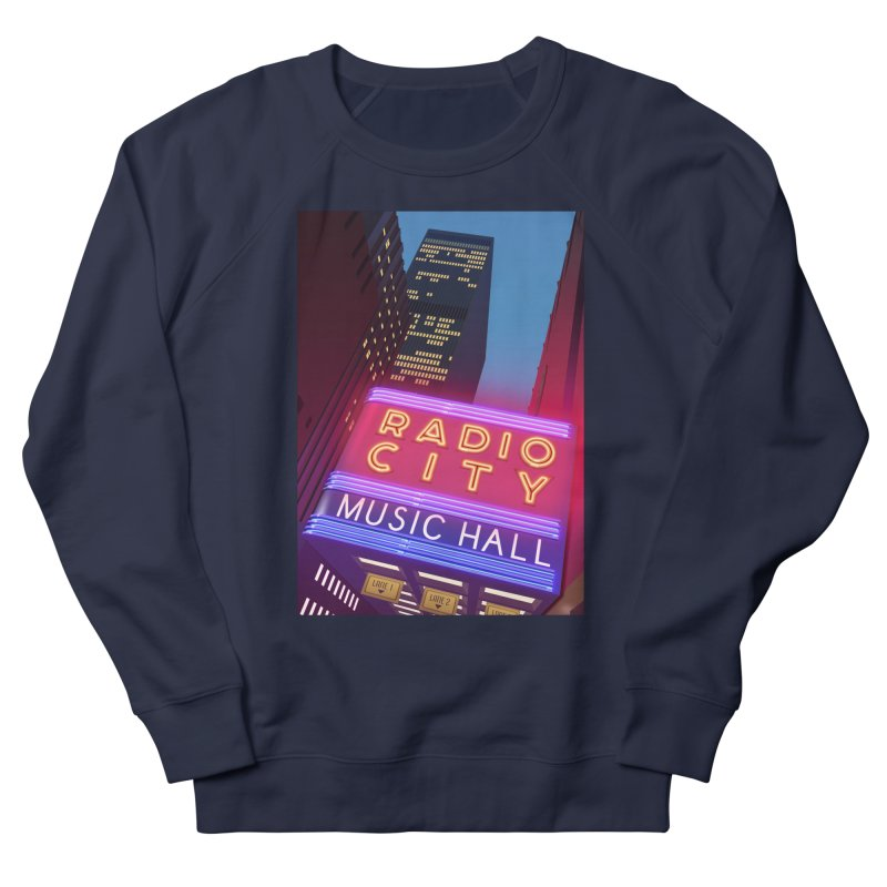 Radio City Music Hall Women's French Terry Sweatshirt by Pig's Ear Gear on Threadless