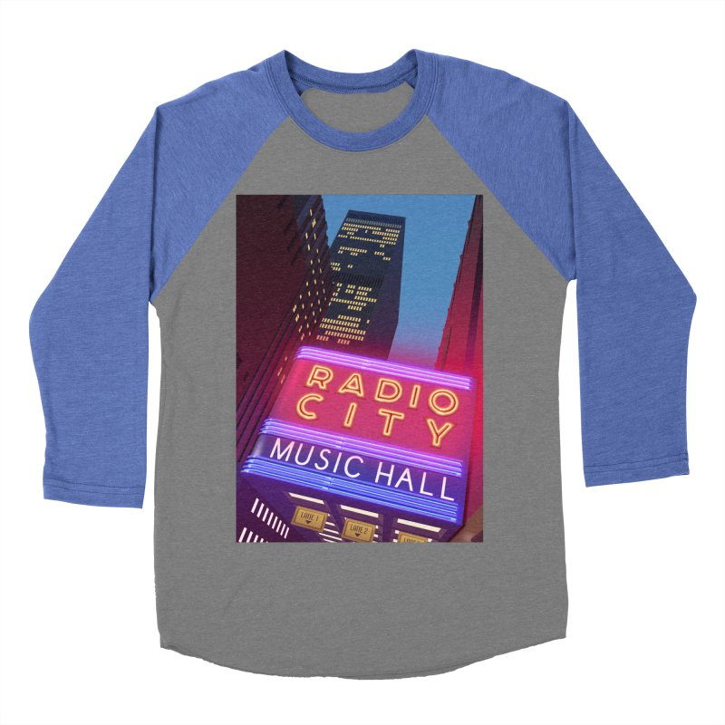 Radio City Music Hall Women's Baseball Triblend Longsleeve T-Shirt by Pig's Ear Gear on Threadless