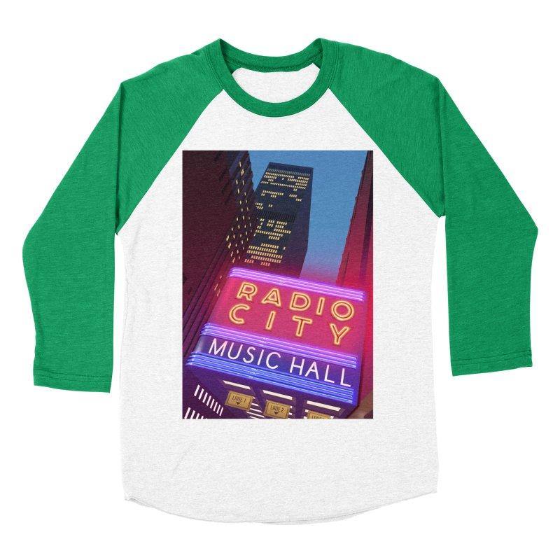 Radio City Music Hall Men's Baseball Triblend Longsleeve T-Shirt by Pig's Ear Gear on Threadless