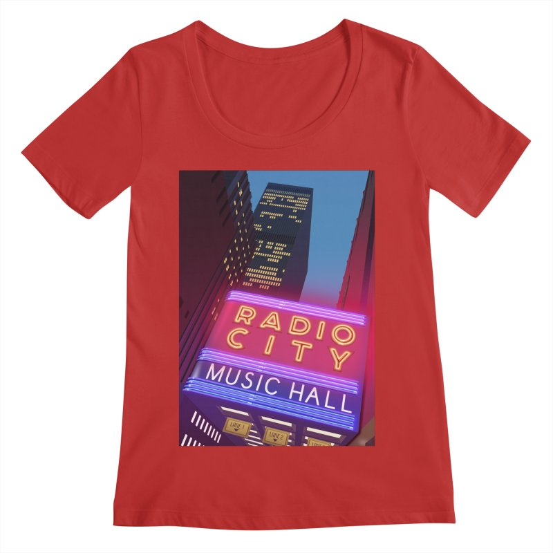 Radio City Music Hall Women's Regular Scoop Neck by Pig's Ear Gear on Threadless