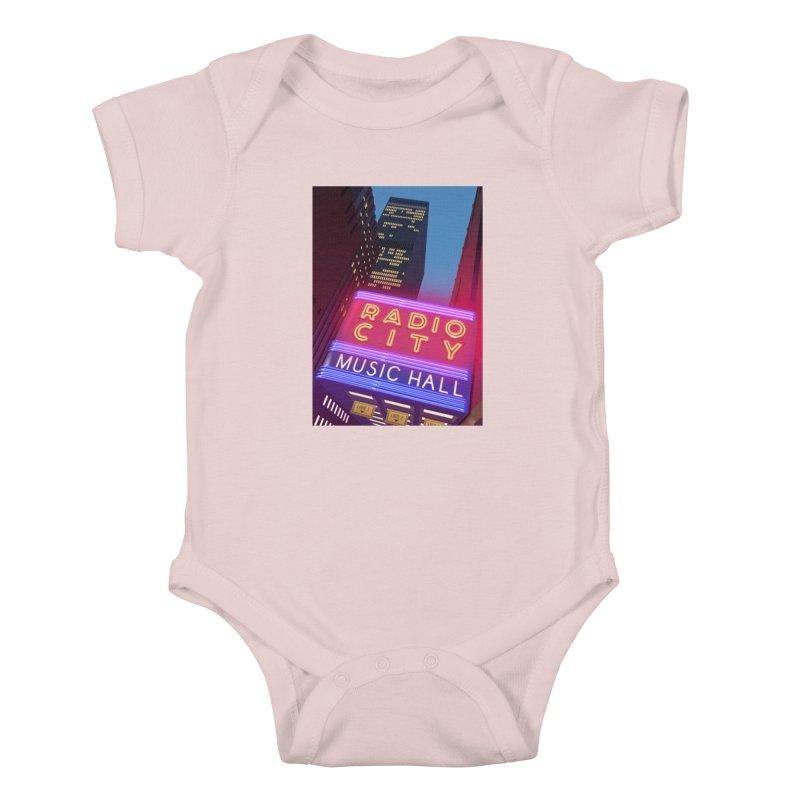 Radio City Music Hall Kids Baby Bodysuit by Pig's Ear Gear on Threadless