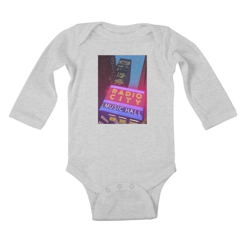 Radio City Music Hall Kids Baby Longsleeve Bodysuit by Pig's Ear Gear on Threadless