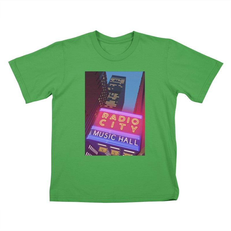 Radio City Music Hall Kids T-Shirt by Pig's Ear Gear on Threadless