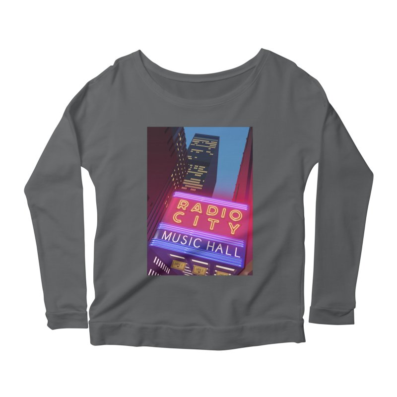 Radio City Music Hall Women's Scoop Neck Longsleeve T-Shirt by Pig's Ear Gear on Threadless