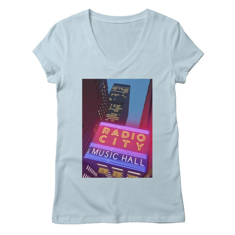 Radio City Music Hall Women's Regular V-Neck by Pig's Ear Gear on Threadless