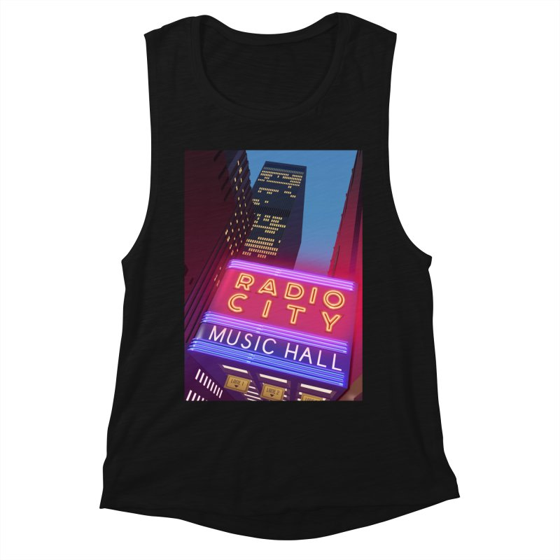 Radio City Music Hall Women's Muscle Tank by Pig's Ear Gear on Threadless