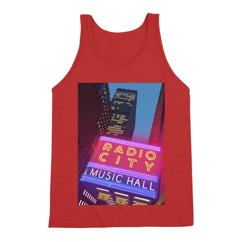 Radio City Music Hall Men's Triblend Tank by Pig's Ear Gear on Threadless
