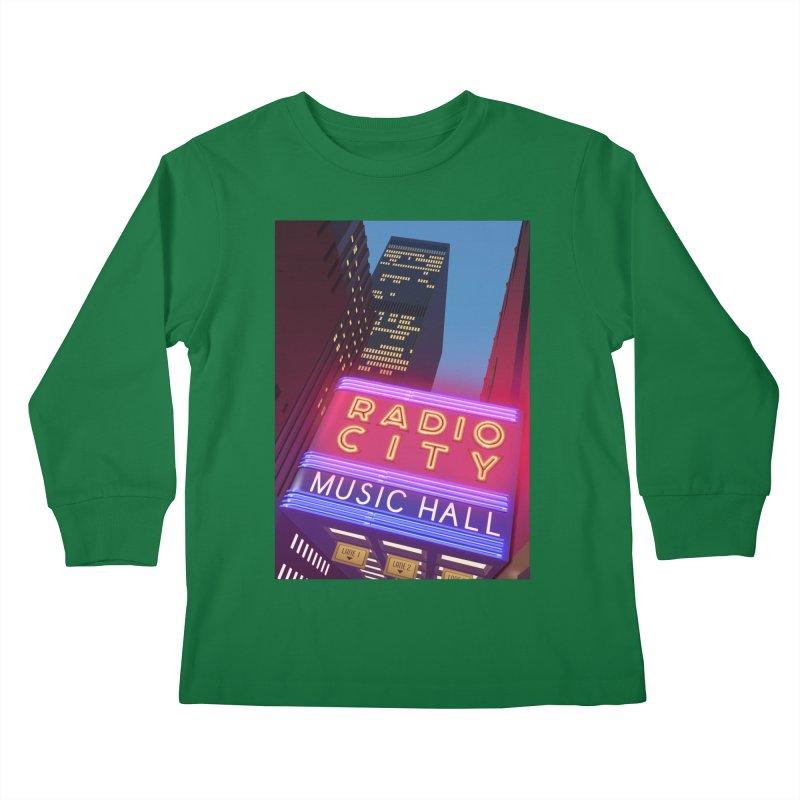 Radio City Music Hall Kids Longsleeve T-Shirt by Pig's Ear Gear on Threadless