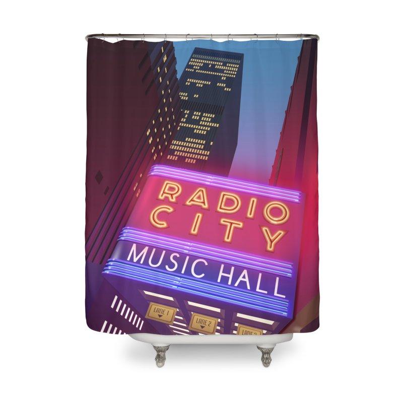 Radio City Music Hall Home Shower Curtain by Pig's Ear Gear on Threadless
