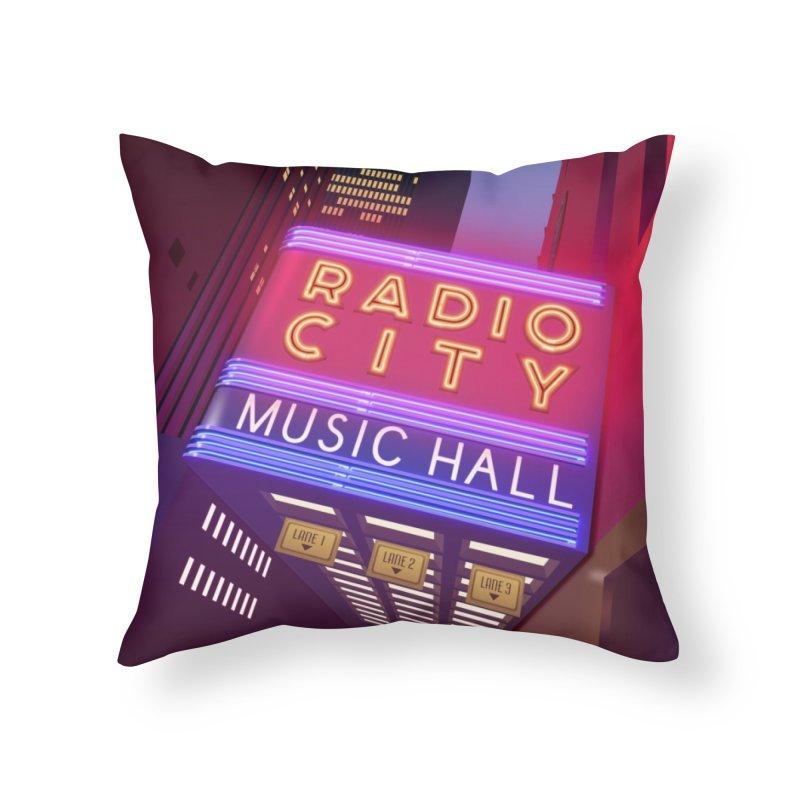 Radio City Music Hall Home Throw Pillow by Pig's Ear Gear on Threadless