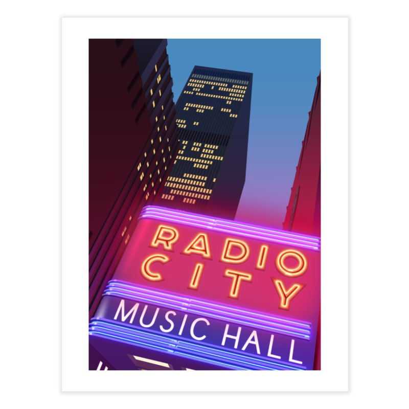Radio City Music Hall Home Fine Art Print by Pig's Ear Gear on Threadless