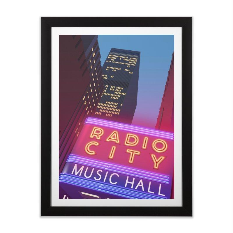 Radio City Music Hall Home Framed Fine Art Print by Pig's Ear Gear on Threadless