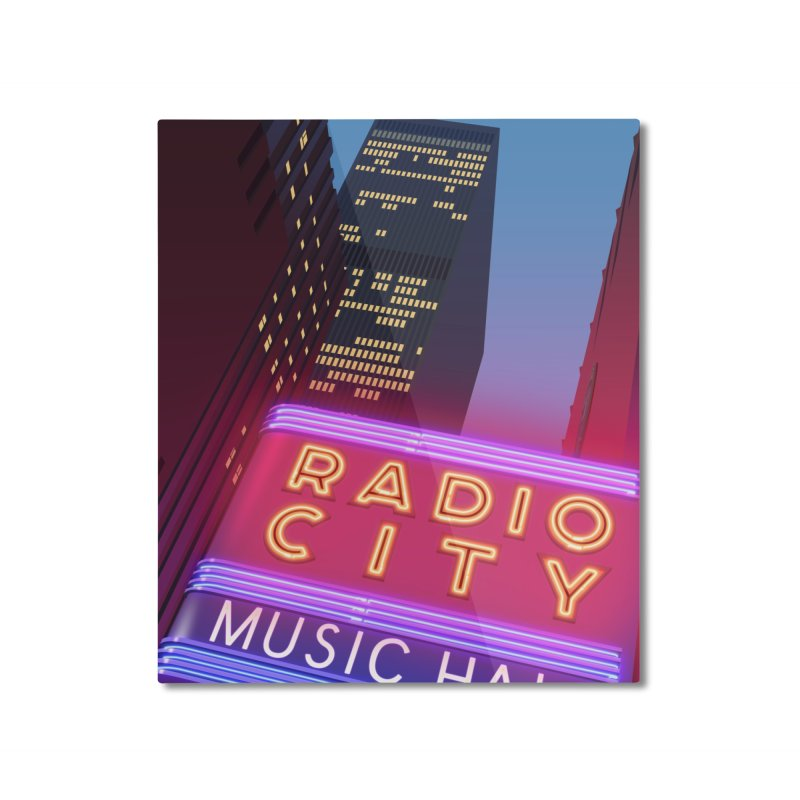 Radio City Music Hall Home Mounted Aluminum Print by Pig's Ear Gear on Threadless