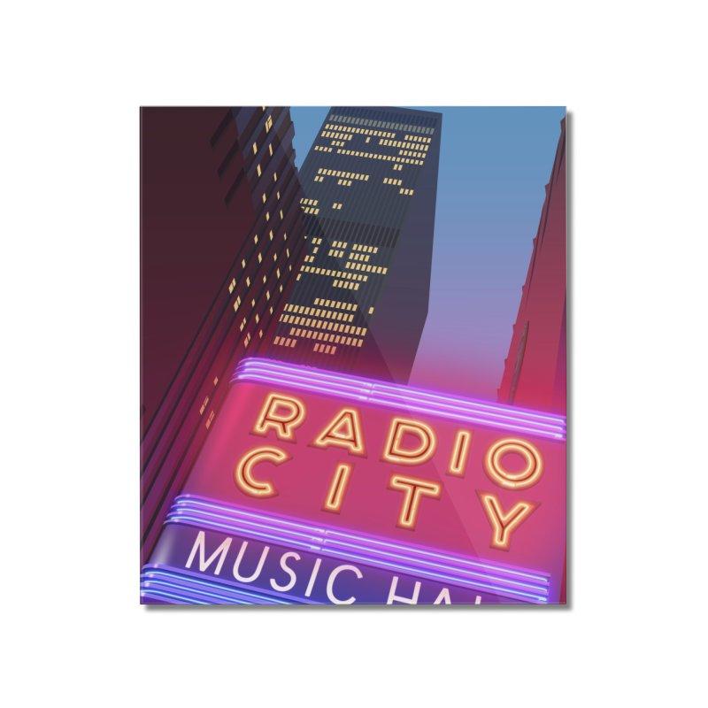 Radio City Music Hall Home Mounted Acrylic Print by Pig's Ear Gear on Threadless