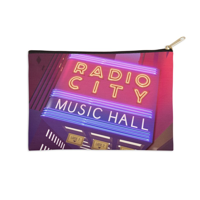 Radio City Music Hall Accessories Zip Pouch by Pig's Ear Gear on Threadless