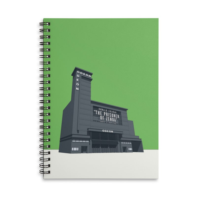 ODEON Leicester Square Accessories Lined Spiral Notebook by Pig's Ear Gear on Threadless