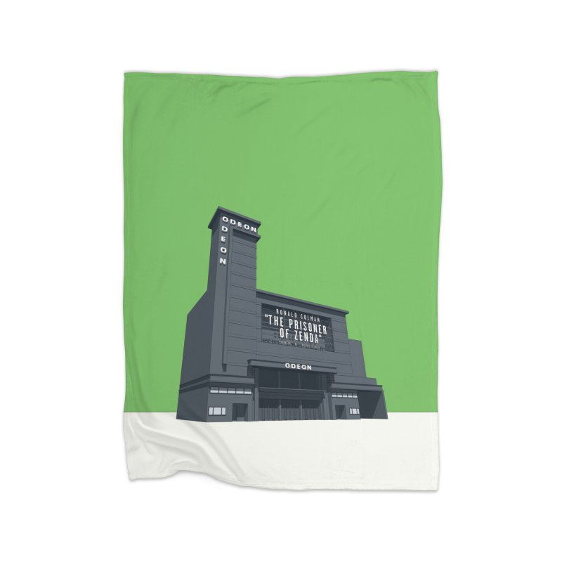 ODEON Leicester Square Home Fleece Blanket Blanket by Pig's Ear Gear on Threadless