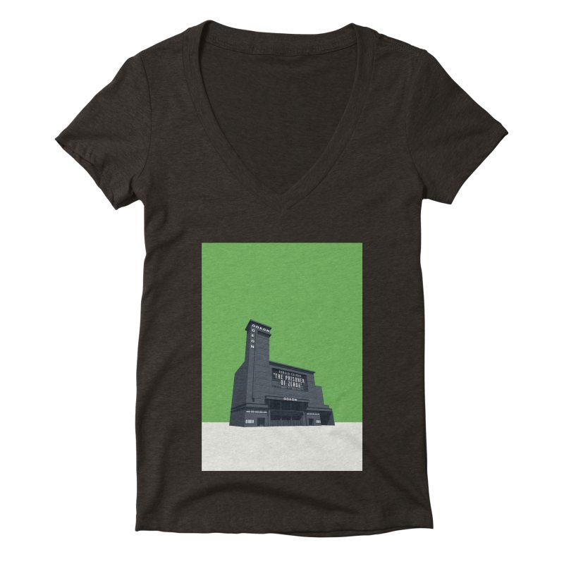 ODEON Leicester Square Women's Deep V-Neck V-Neck by Pig's Ear Gear on Threadless