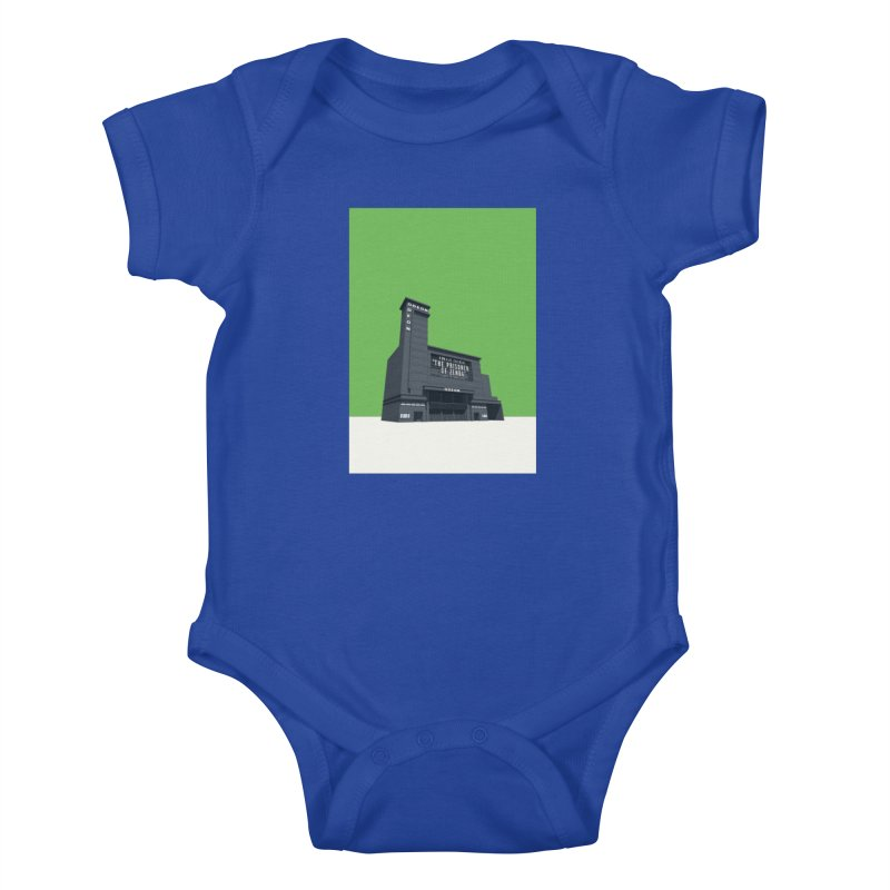 ODEON Leicester Square Kids Baby Bodysuit by Pig's Ear Gear on Threadless