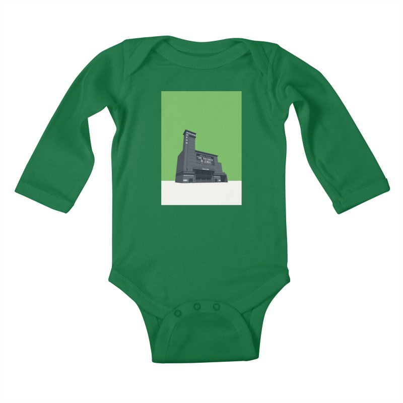 ODEON Leicester Square Kids Baby Longsleeve Bodysuit by Pig's Ear Gear on Threadless