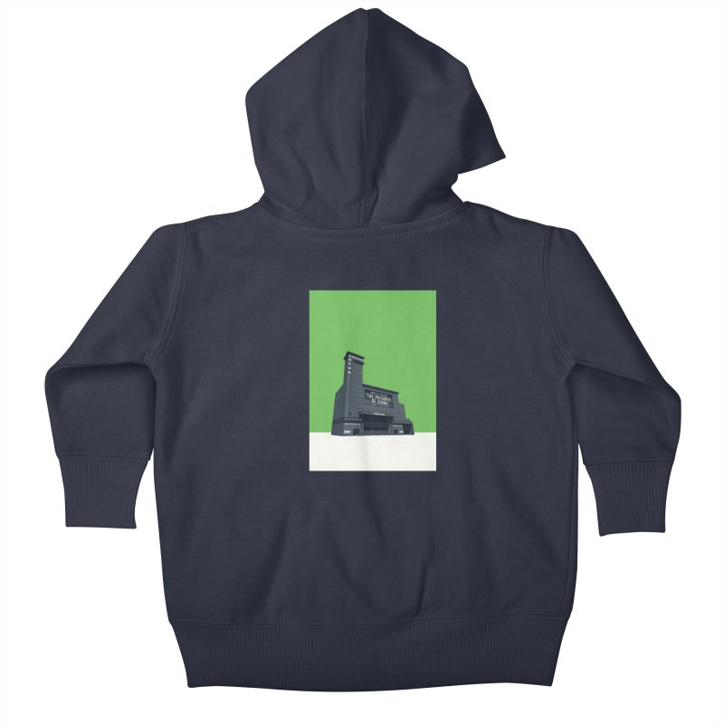 ODEON Leicester Square Kids Baby Zip-Up Hoody by Pig's Ear Gear on Threadless