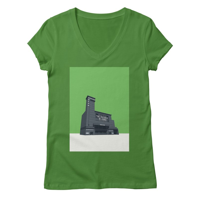 ODEON Leicester Square Women's Regular V-Neck by Pig's Ear Gear on Threadless