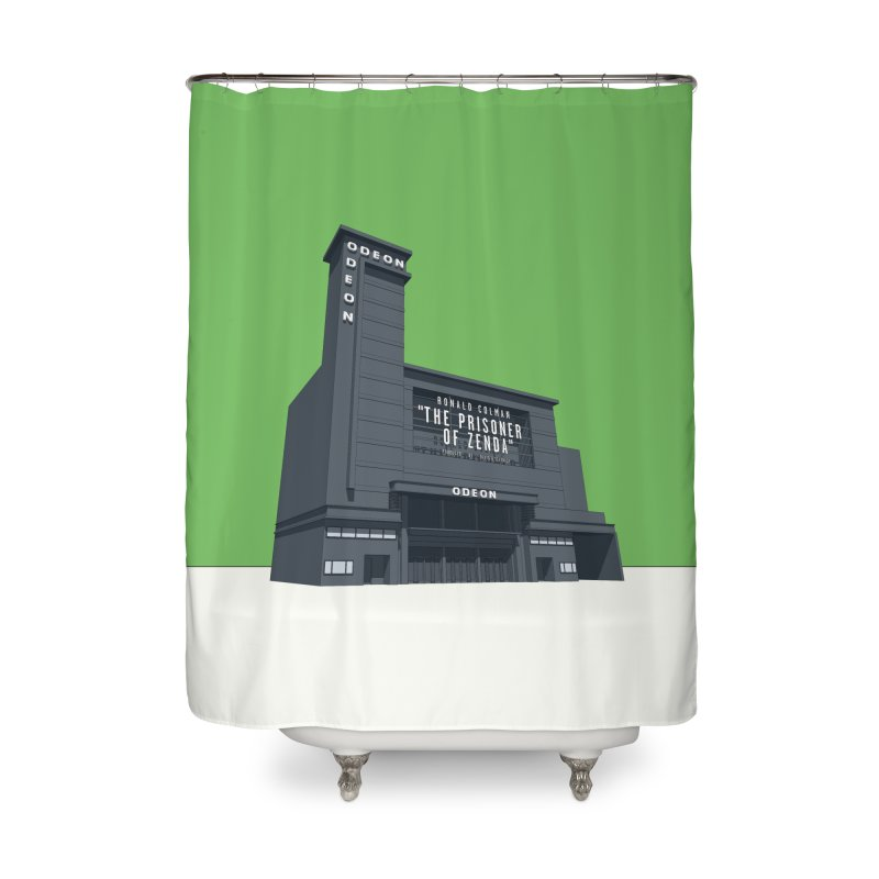 ODEON Leicester Square Home Shower Curtain by Pig's Ear Gear on Threadless