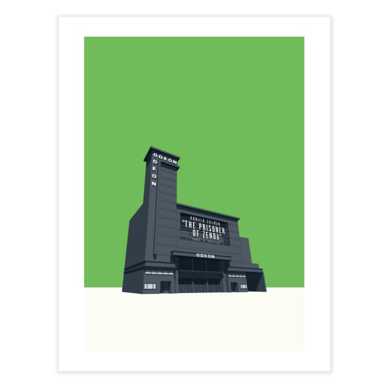 ODEON Leicester Square Home Fine Art Print by Pig's Ear Gear on Threadless