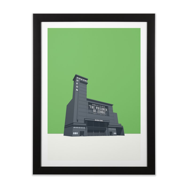 ODEON Leicester Square Home Framed Fine Art Print by Pig's Ear Gear on Threadless