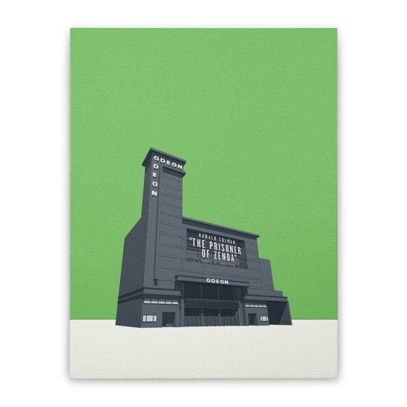 ODEON Leicester Square Home Stretched Canvas by Pig's Ear Gear on Threadless