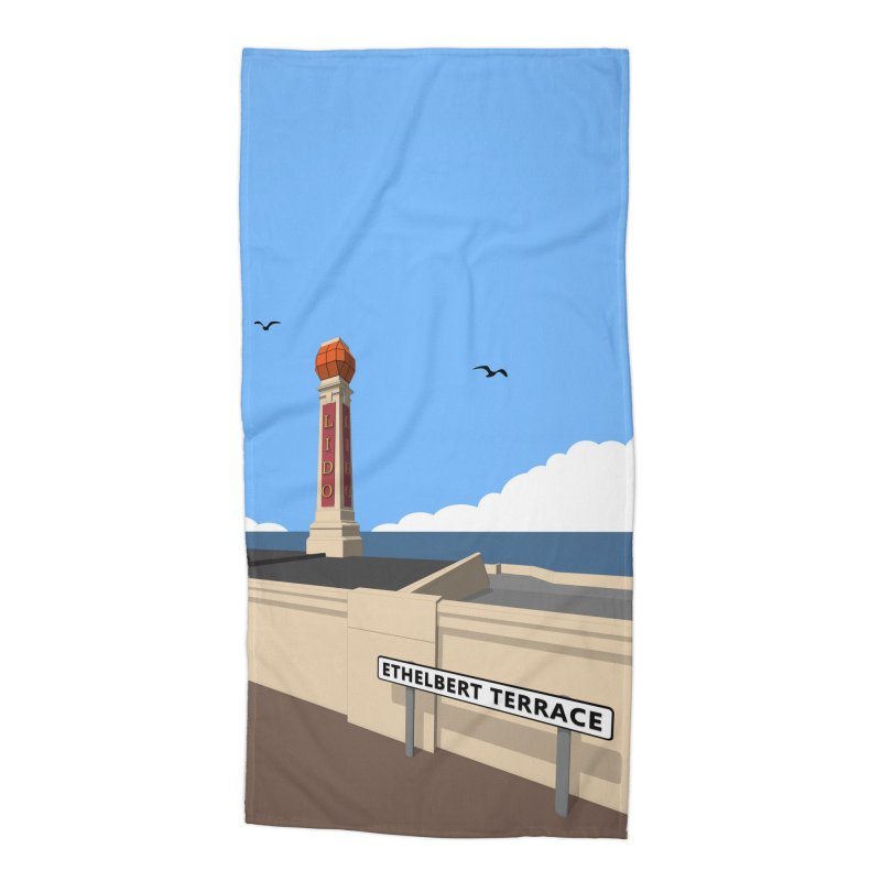 Cliftonville Lido, Margate Accessories Beach Towel by Pig's Ear Gear on Threadless