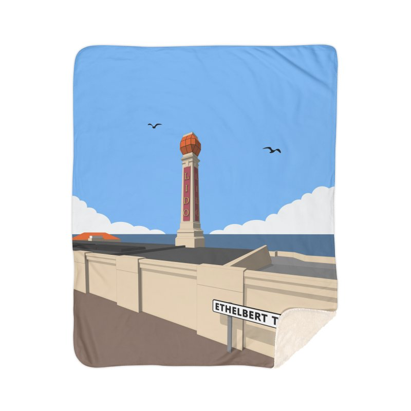Cliftonville Lido, Margate Home Sherpa Blanket Blanket by Pig's Ear Gear on Threadless