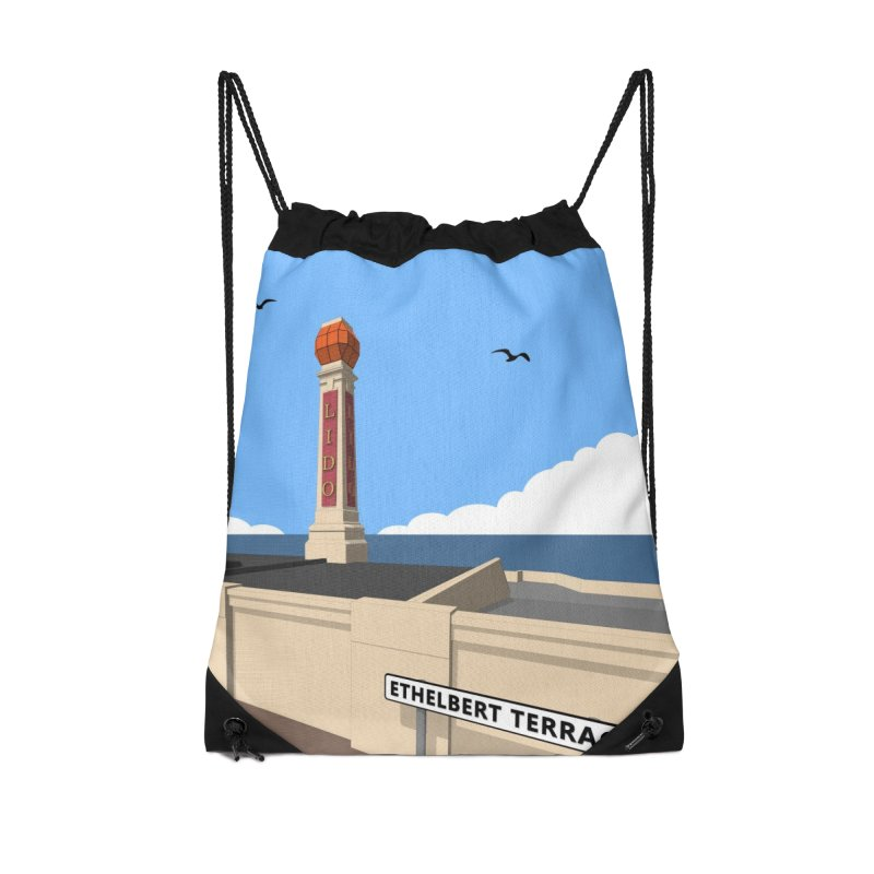 Cliftonville Lido, Margate Accessories Drawstring Bag Bag by Pig's Ear Gear on Threadless