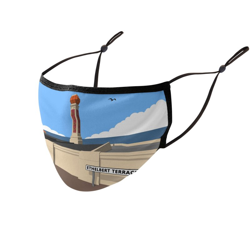 Cliftonville Lido, Margate Accessories Face Mask by Pig's Ear Gear on Threadless