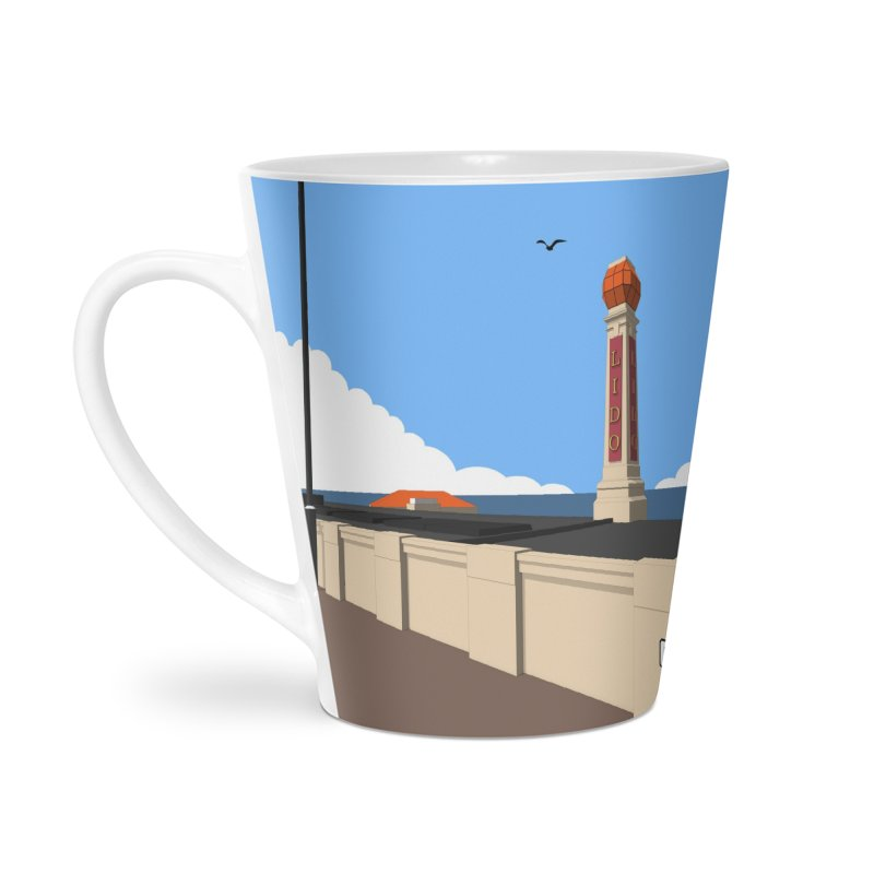 Cliftonville Lido, Margate Accessories Latte Mug by Pig's Ear Gear on Threadless