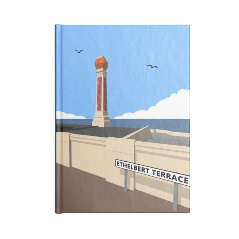 Cliftonville Lido, Margate Accessories Blank Journal Notebook by Pig's Ear Gear on Threadless