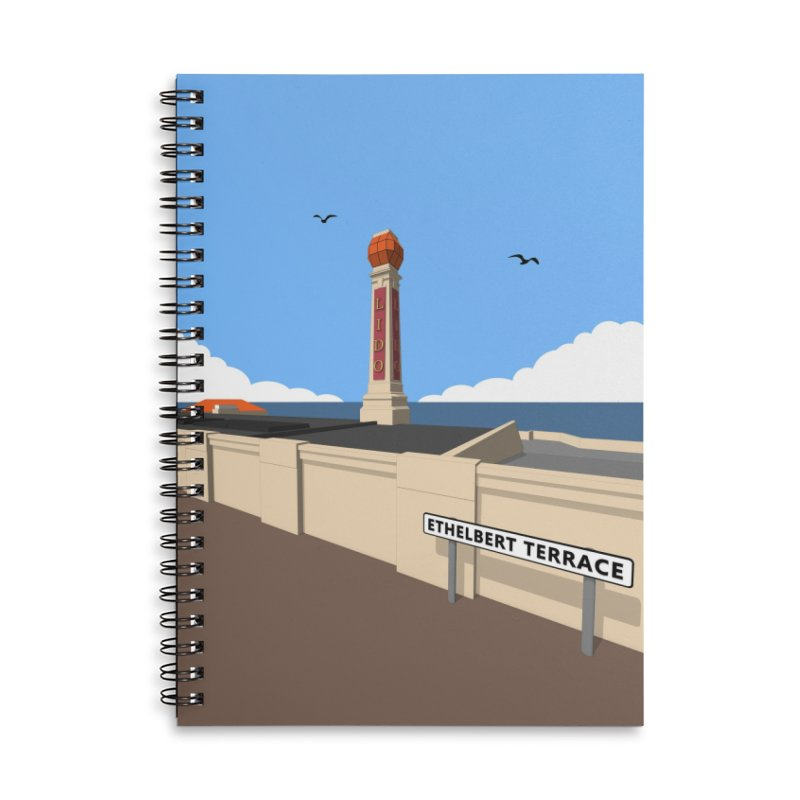Cliftonville Lido, Margate Accessories Lined Spiral Notebook by Pig's Ear Gear on Threadless