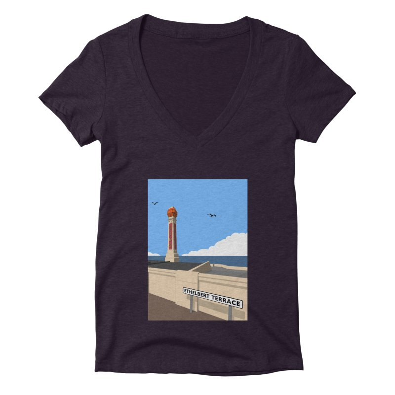 Cliftonville Lido, Margate Women's Deep V-Neck V-Neck by Pig's Ear Gear on Threadless