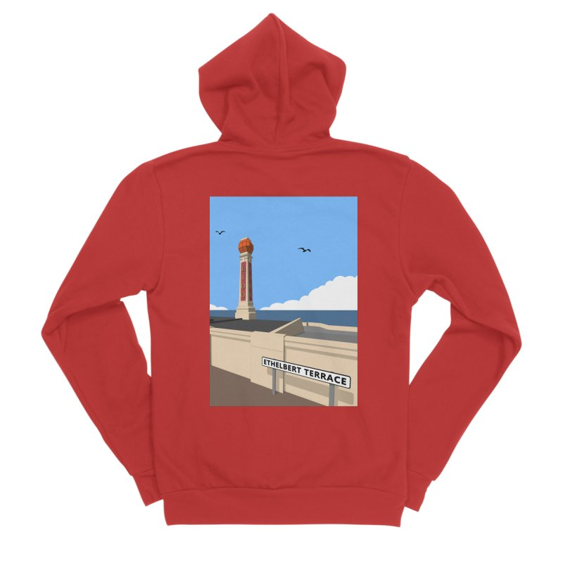 Cliftonville Lido, Margate Women's Sponge Fleece Zip-Up Hoody by Pig's Ear Gear on Threadless