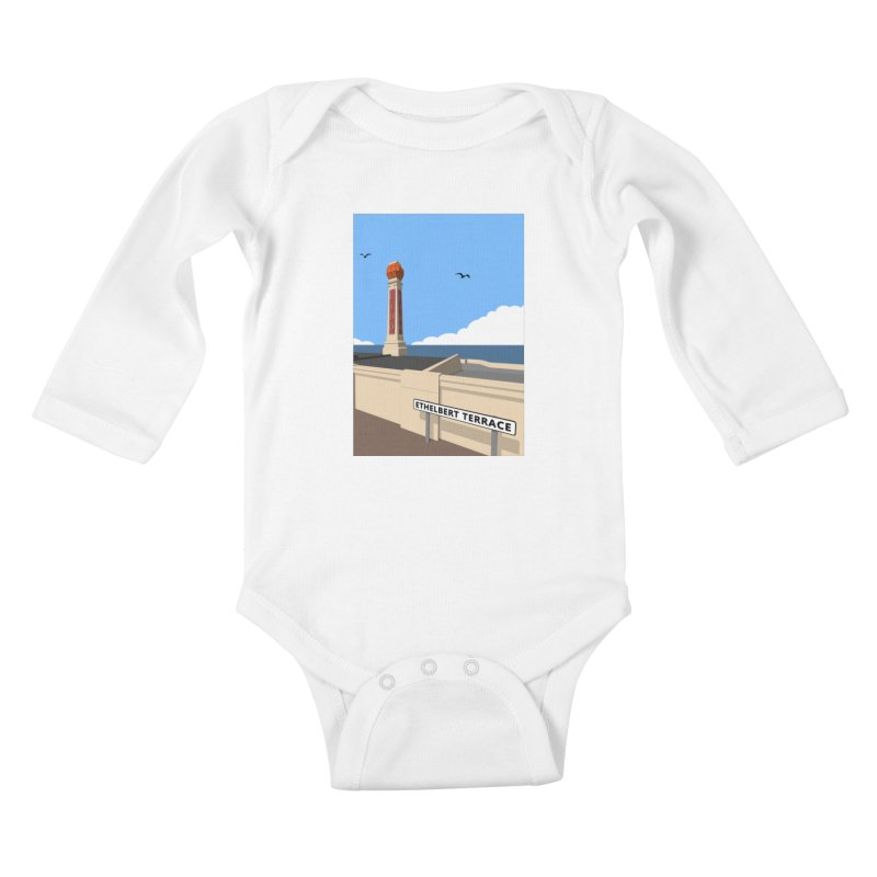 Cliftonville Lido, Margate Kids Baby Longsleeve Bodysuit by Pig's Ear Gear on Threadless