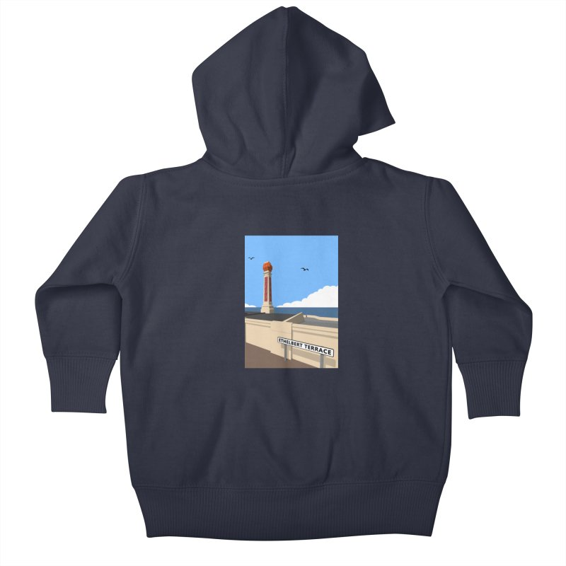 Cliftonville Lido, Margate Kids Baby Zip-Up Hoody by Pig's Ear Gear on Threadless