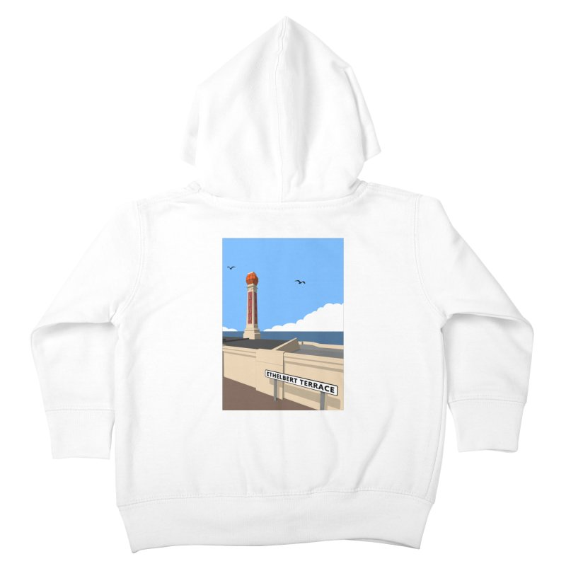 Cliftonville Lido, Margate Kids Toddler Zip-Up Hoody by Pig's Ear Gear on Threadless