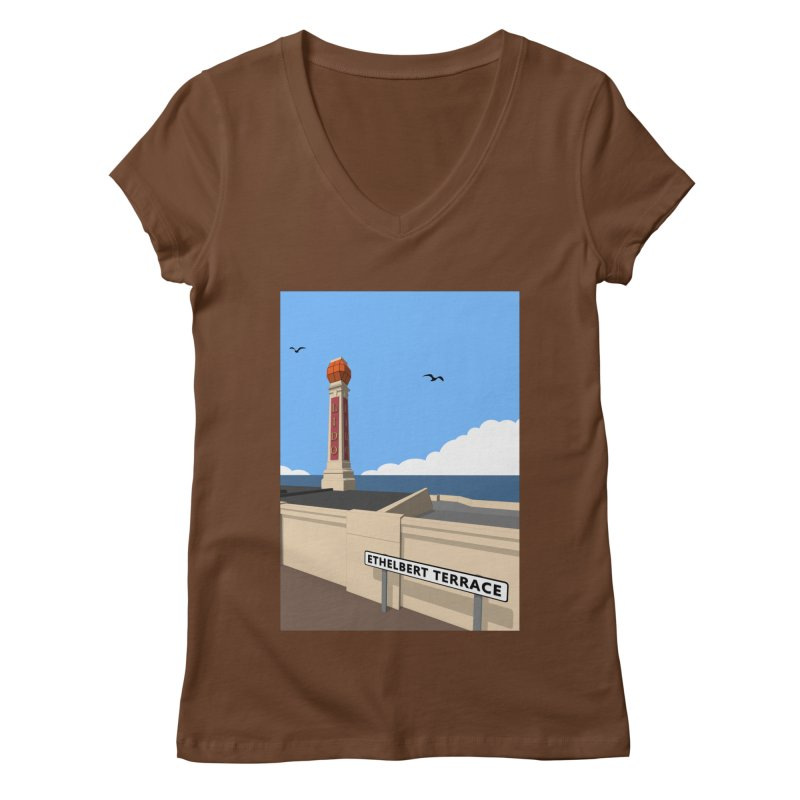 Cliftonville Lido, Margate Women's Regular V-Neck by Pig's Ear Gear on Threadless